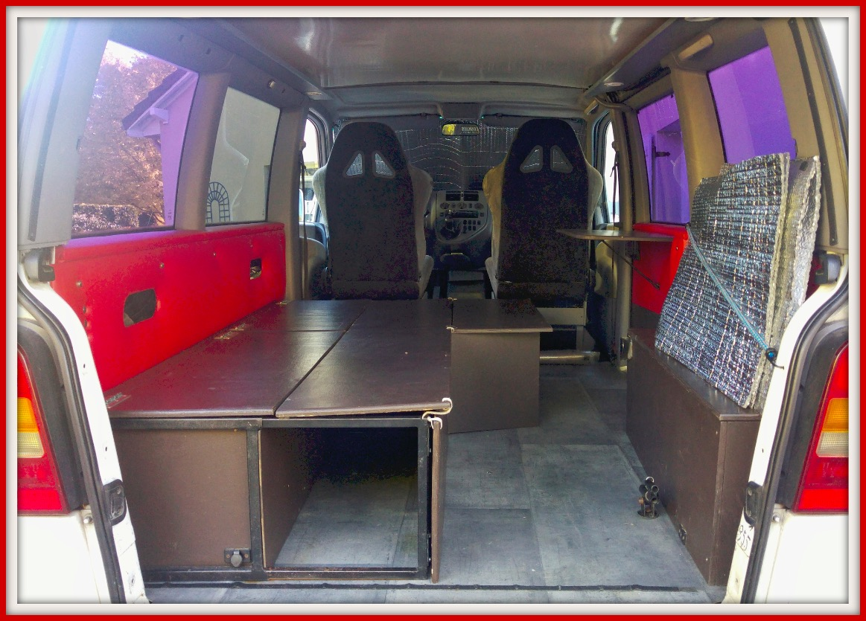 am nagement fourgon le van des sportifs outdoor. Black Bedroom Furniture Sets. Home Design Ideas